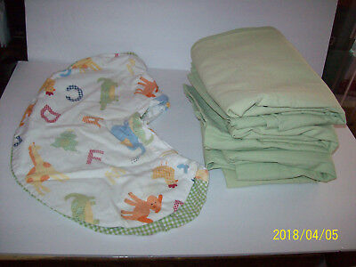 Pottery Barn Kids  Alphabet Soup Green Curtains and Pillow Cover