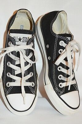 ae778dedbd78 CONVERSE ALL STAR CHUCK TAYLOR Sneakers Womens Size 6.5 CANVAS LOW TOP Black