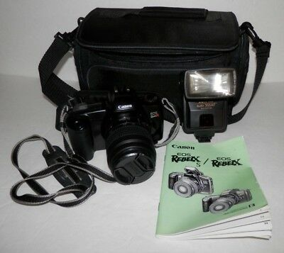 Canon EOS Rebel X 35mm Film Vintage SLR Camera w/ 35-80mm Lens