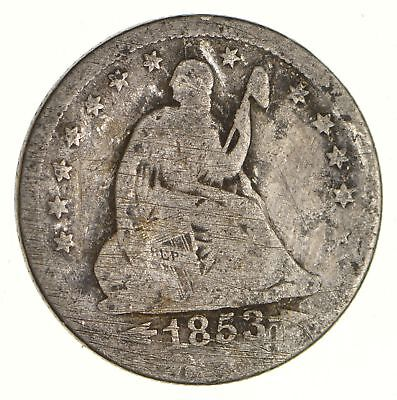 TOUGH - 1853-O Seated Liberty Quarter - Early US Type Coin - Historic *543