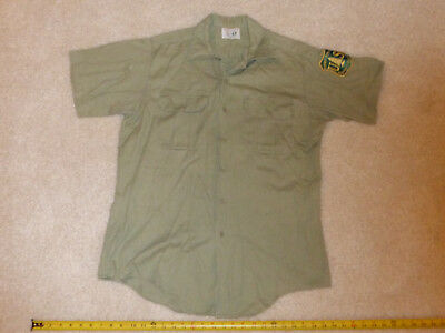 Vintage Nudelman's US Forest Service Work Shirt WITH PATCH - FREE SHIPPING!!!
