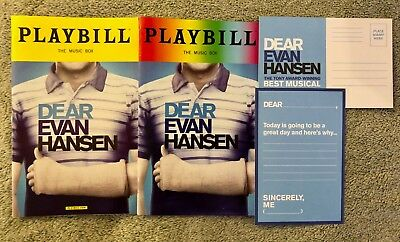 Dear Evan Hansen regular and pride playbills - *Both playbills* *Free Postcard*