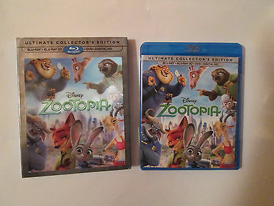 Zootopia (3D/Bluray/DVD,With Digital copy) W/Lenticular Lens Sleeve.OOP Disney