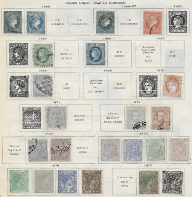 23 Caribbean Island Stamps from Quality Old Antique Album 1855-1877