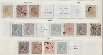 14 Caribbean Island Stamps from Quality Old Antique Album 1883-1891