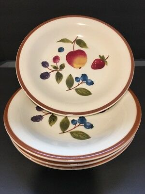 "LONGABERGER POTTERY Fruit and Berry 8"" Plate, Set 4"