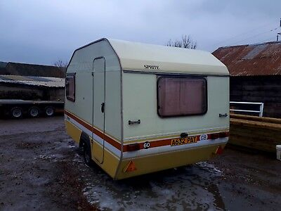 alpine sprite finesse 3/4 berth caravan 1980s retro storage