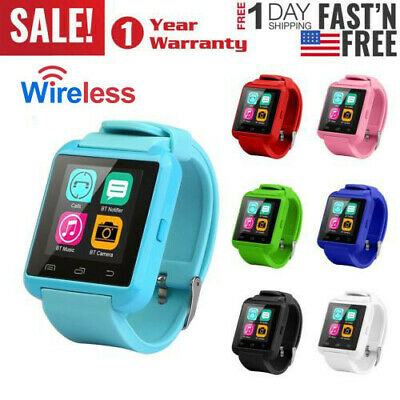 Bluetooth Fitness Tracker Smart Wrist Watch Touch Screen Music Player ForAndroid