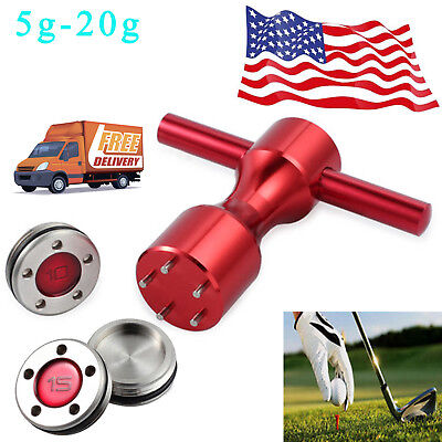 2X 5-20g Golf Custom Weights +Red Wrench For GoLo Titleist Scotty Cameron Putter