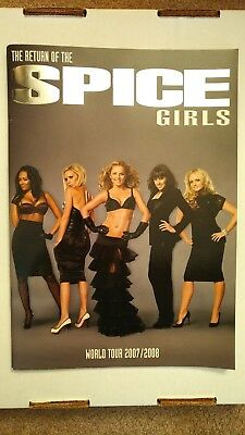 SPICE GIRLS World Tour reunion book programme 2007 2008