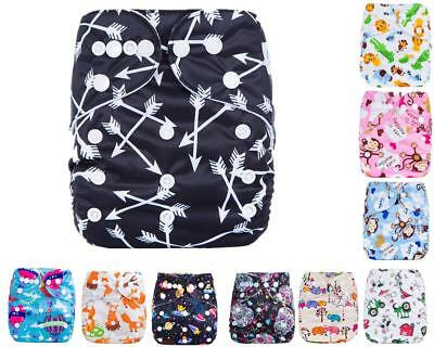 Baby Cloth Diapers OneSize Reusable Pocket Nappy For Newborn+ 1 Inserts