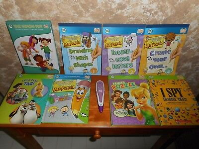 Leap Frog Tag Reading Pen + 8 Books