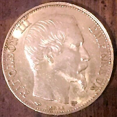 1859-A France Gold 20 Francs Coin Napoleon III - XF/AU
