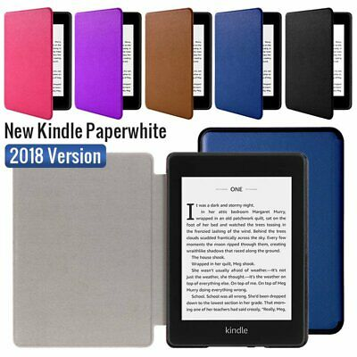 For Amazon 2018 NEW Kindle Paperwhite Magnet Flip Slim Leather Smart Case Cover