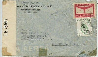 1942 OPEND BY EXAMINER,ARGENTINA to NEW YORK