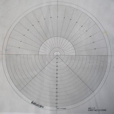 Optical Comparator Chart For Profile Projector Overlay Chart Mitutoyo 512066