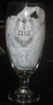 2012 Exile Brewing Company Glass Goblet - Des Moines Iowa