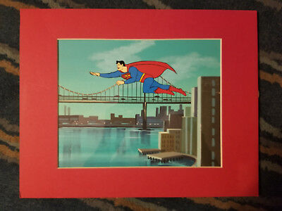 SUPERMAN Hanna-Barbera Original Production ANIMATION CEL + BACKGROUND ART
