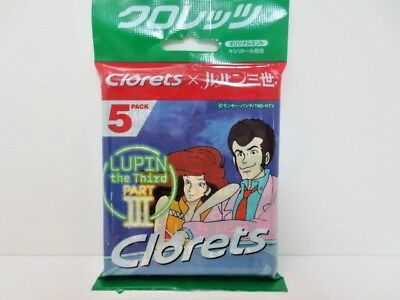 FREE SHIP LUPIN III x Clorets LUPIN the 3rd PART 3 Design mint gum 5 pack RARE