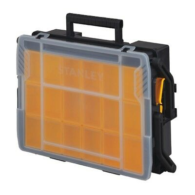 Stanley 23 Compartment Small Parts Storage Bins Tool Box Organizer Cantilever