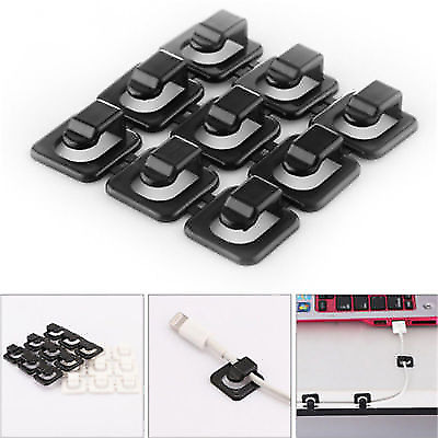 18pcs Cable Cord Clips Wire Line Data Lines Organizer Adhesive Clamp Fixer Tool