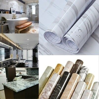 Granite Marble Decal Decor PVC Self Adhesive Wall Sticker Contact Paper Peel AU