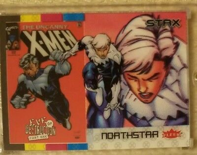 NORTHSTAR 2018 Fleer Ultra X-Men 3 STAX Card Character Set(Top, Middle & Bottom)