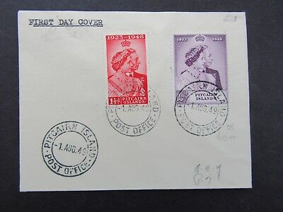 Pitcairn Island - 1949 Royal Silver Wedding First Day Cover - Fine