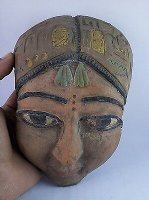 Ancient Egyptian Mask Statue 600 Bc
