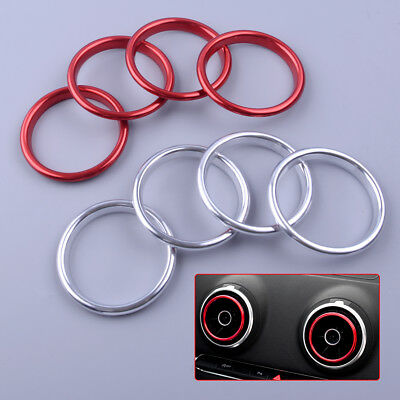 4pcs Car Interior Air Vent Outlet Ring Cover Trim For Audi A3 8V Decorative ring