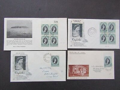 PITCAIRN ISLAND - 1953 CORONATION FIRST DAY COVER x 4