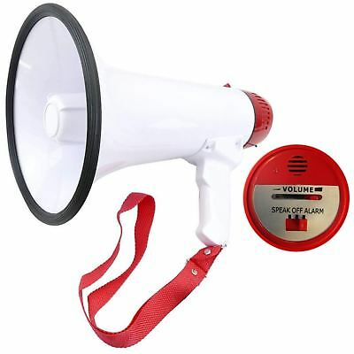 Rexco Powerful Portable Talk Megaphone Siren Alarm Foldable Handle Loud Speaker
