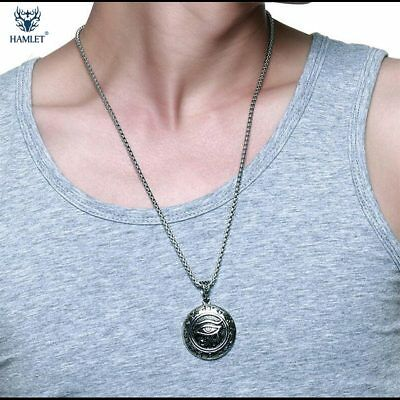 NEW Jewelry Stainless Steel The Eye Of Horus Pendant Necklace HJ379
