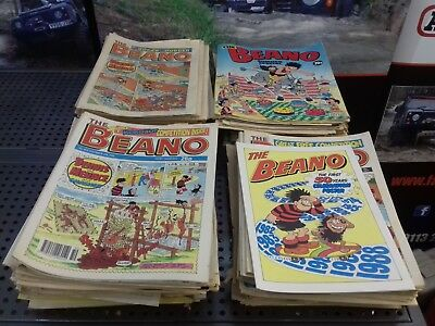 Beano Comics From 1986-1991 250+ Vintage Collectables