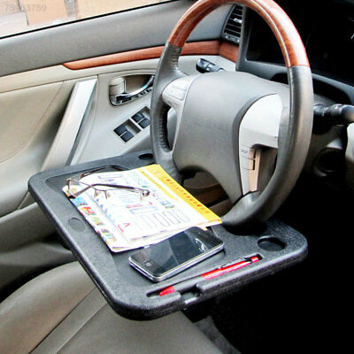 2CC8 Car Laptop Stand Notebook Desk Steering Wheel Tray Table Food/drink Holder