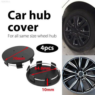 4091 Wheel Center Cap Black No Logo Tire Hub Cap Automobile Durable