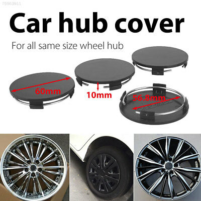 40B5 Hub Cap No Logo Black Vehicle Wheel Hub Cover Automobile Stylish 4Pcs