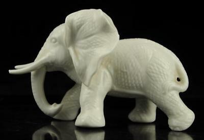 Old Chinese hand-carved white glaze porcelain  Elephant statue/r b01