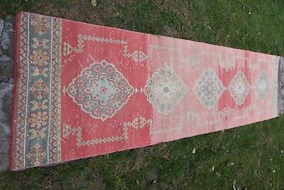 Runner Rug, Oushak Turkish Rug, Vintage Turkish Rug, Handmade Turkish Rug, Rugs,