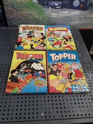 The Topper Annuals 1985, 1987, 1988, 1990 Comic Vintage Collectables x4