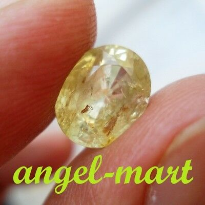 Cert 3.54 Ct Natural Chrysoberyl Transparent Yellow Sri Lanka Delightful Gemston