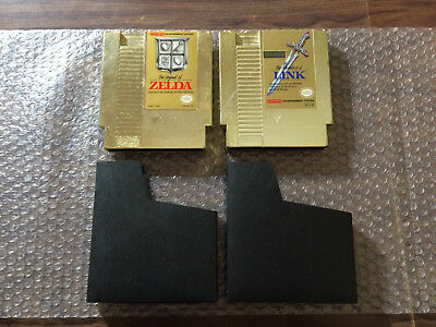 The Legend of Zelda I+II, 1+2 (Nintendo, NES) Authentic -- Gold Carts -- Tested