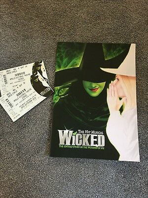 Wicked Apollo Victoria Theatre Programme And Two Tickets