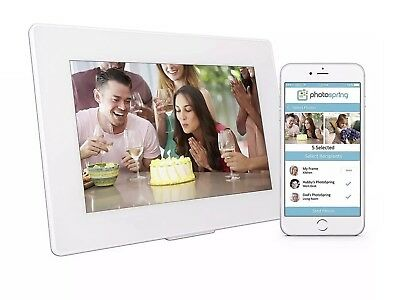 "Photospring 10"" 16GB Wi-Fi Digital Photo Frame with Touchscreen"