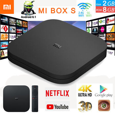 Xiaomi Mi Box S 4K HDR Android TV w/Google Assistant Streaming Media Player