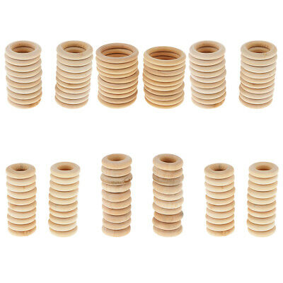 20Pcs Wooden Rings Circles for DIY Pendant Connectors Jewelry Making Craft