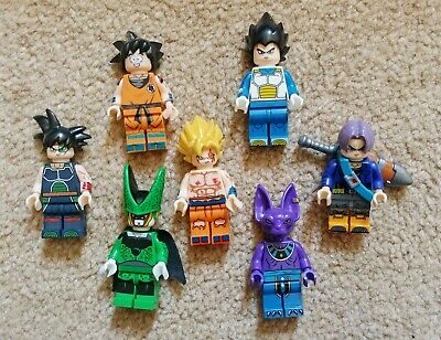 Dragon Ball Z lego mini figures. GOKU VEGETA KRILLIN BARDOCK TRUNKS