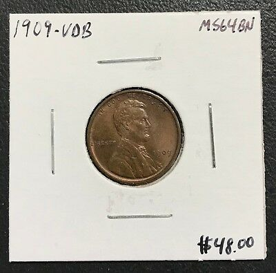 1909-Vdb U.s. Lincoln Wheat Penny Cent ~ Ms+ Condition! $2.95 Max Shipping! C107