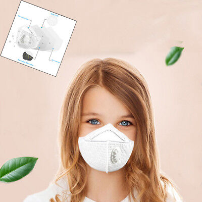12/24/48PCS N95 Particulate Respirator with Valve Kids PM2.5 Dust-proof Masks