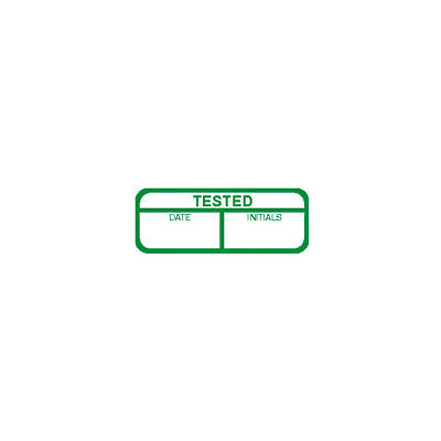 Tested Labels, Green Mark & Seal, 40 x 15mm, Pack Of 120